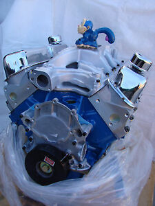 347 425hp Ford 302 Stroker Crate High Perf Roller Cam Balanced Engine Alum Head