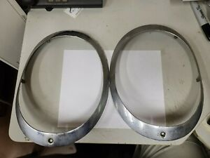 1953 54 55 Corvette Headlight Trim Ring Bezel 5942176 Original