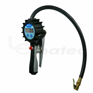 Air Tire Inflator With Digital Pressure Gauge Tire Clip Chuck For Car Motorcycle
