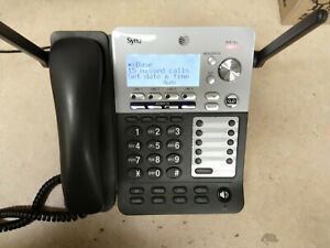 At t Synj Sb67138 4 Line Dect 6 0 Business Office Deskset Phone Works Great