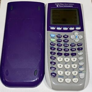 Texas Instruments Ti 84 Plus Silver Edition Graphing Calculator Purple Tested