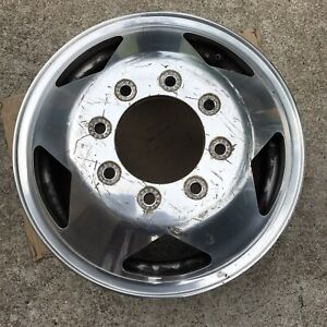 16 Inch Wheel Ford F350 Drw 1999 2004 Front Polished Oem Genuine 3335