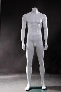Free Shipping Used Showroom Sample Fiberglass Headless Muscular Male Mannequin