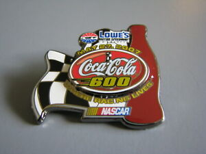2007 COCA-COLA 600 LOWE'S MOTOR SPEEDWAY CHARLOTTE NASCAR RACING EVENT HAT PIN
