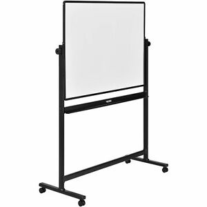 Rolling Magnetic Dry Erase Whiteboard Double Sided Reversible 48 X 36 Black