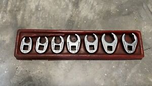 Snap On 7 Piece Flare Nut Crowfoot Wrench Set 3 8 To 3 4 Sae Crow Foot