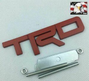 1 Pc Tundra Tacoma 4runner 3 D Red Trd Metal Front Grille Badge Emblem T R D