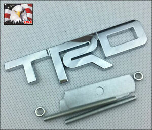 1pc Tundra Tacoma 4runner Chrome 3 D Trd Metal Front Grille Badge Emblem T R D