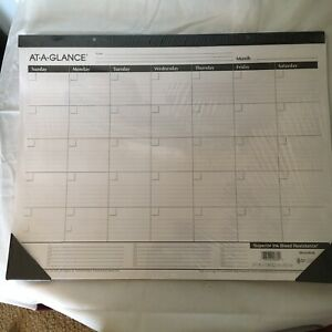 Desk Calendar At a glance No Dates Write In Yourself