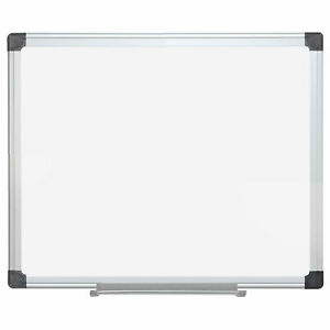 Mastervision Magnetic Dry Erase White Board White 24 X 18