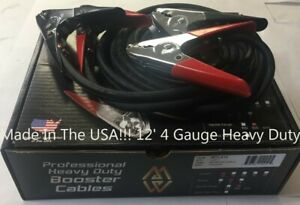 Usa Mize Heavy Duty Wtl412 Professional 4 Ga 12 Jumper Booster Cables 600 Amp
