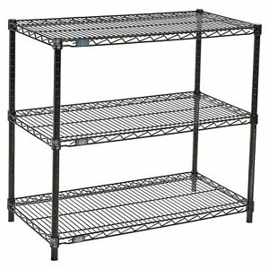 Black Wire Shelf Printer Stand 3 shelf 36 w X 18 d X 34 h