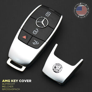 Amg Laurel New Remote Key Fob Cover Holder Protect Replace For Mercedes Sport