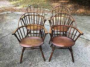 4 Antique Captains Chairs Marble Shattuck Chair Co Cleveland Ohio