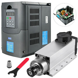 4kw Er25 Air Cooled Spindle Motor And 4kw Variable Frequency Drive Inverter Vfd