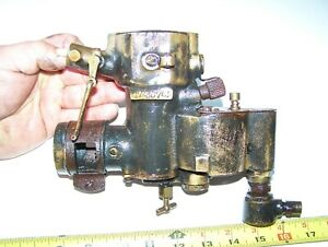 Old Marvel Brass Era Buick Oakland Car Carburetor Hit Miss Engine Steam Nice