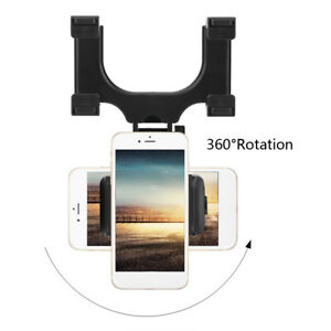 Universal Car Rear View Mirror Mount Phone Holder Stand For Iphone Samsung Gps