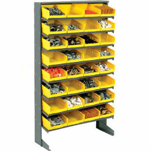 Floor Rack 8 Shelves W 32 8 w Yellow Bins 33x12x61