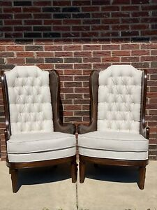 Hollywood Regency Cane Arm Chairs