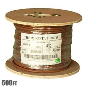 500ft 20 5 Unshielded Cmr Heating Air Conditioning Hvac Ac Thermostat Cable Wire