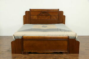 Art Deco Waterfall Vintage King Size Bed 34317