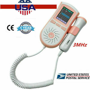 Usa 3mhz Vascular Probe Fetal Doppler Pr Heart Beat Lcd Prenatal Fetal Doppler