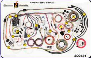 1955 1959 Chevy Gmc Truck Classic Wiring Harness Aaw New Usa Quality Wiring