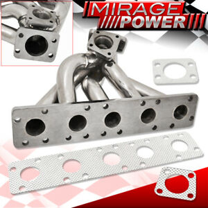 For Audi S2 S4 Rs2 2 2l K26 Stock Flange Turbo Exhaust Manifold Stainless Steel