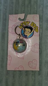 Vintage Original Car Truck Van Betty Boop Bubble Clock Key Ring Holder Keychain