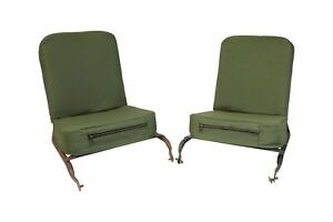 2 Seats Covers foam Jeep Willys W Cargo Pockets Cj2a Cj3a Cj3b M38 And M38a1