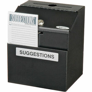 Suggestion Box Steel Black 7 w X 6 d X 8 1 2 h