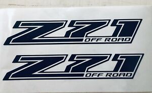 Z71 Off Road Decal 12 Black Reflective Chevrolet chevy Silverado Stand Out
