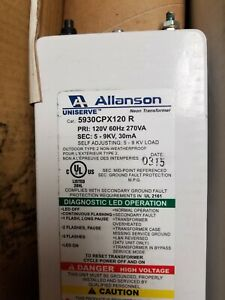 Neon Transformer Allanson 5930 Cpx 120r Self adjusting Uniserve New Old Stock