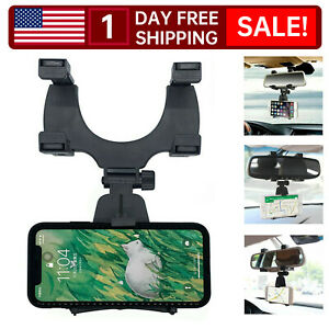 Universal Auto Car Rear View Mirror Mount Stand Holder Cradle For Cell Phone 1pc