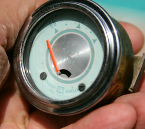 Stewart Warner 2 1 16 Twin Blue Vintage 12v Electric Water Temperature Gauge