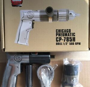 Chicago Pneumatic cp785h 1 2 Air Drill New In Box Free Shipping