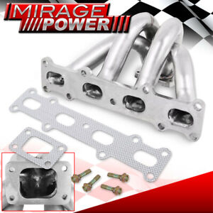 For 94 05 Miata 1 8l T2 T25 T28 Stainless Steel Exhaust Turbocharger Manifold
