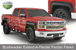 74 5in Bed Extend a fender Flares Set Oe Matte Black For 1995 04 Tacoma W 4wd