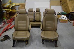 Land Rover Discovery 2 Seats Set Front Rear Bahama Beige Tan Leather 99 00 01 02