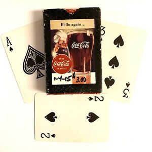 Coca Cola Playing Cards Vintage Drink Soda Pop Card Game Rare Toy Fun Collecti