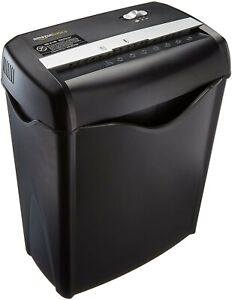 Amazonbasics 6 sheet Cross cut Paper And Credit Card Home Office Shredder