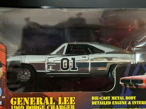 DUKES OF HAZZARD CHROME GENERAL LEE 1:25 RARE DIE CAST CAR MOVIE TOY COLLECTIBLE $249.99