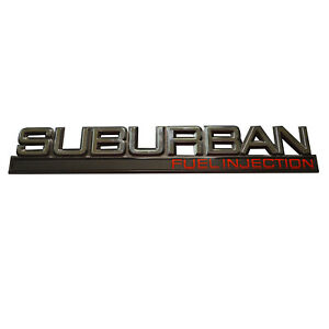 New Rear Door Hatch Emblem Badge For Chevrolet Chevy Suburban Fuel Injection