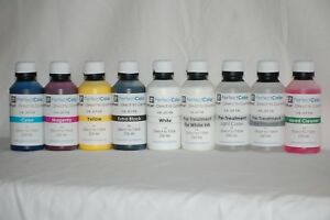 Direct To Garment Complete Ink Set dtg 9 Bottles 250 Ml Ea From Perfect Color