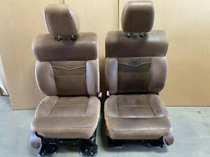 2005 Ford F150 King Ranch Front Leather Bucket Seats W Power