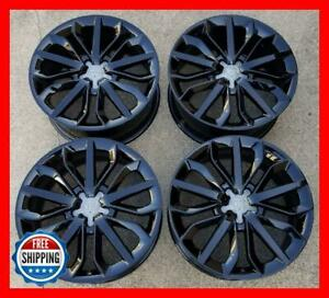 Audi A6 Genuine Oem Factory Wheel Set 19 Rims 58896 Gloss Black S