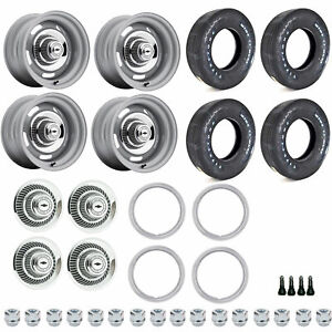 U s Wheel 55 4710k1 Restoration Wheel And Tire Kit Includes 4 14 X 7 Rallye