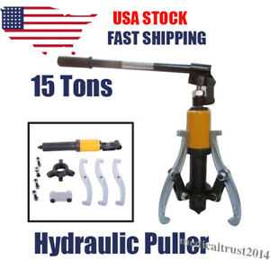 15 Ton Hydraulic Gear Wheel Bearing Puller 3 Jaws Extractor Tool Drawing Pulling