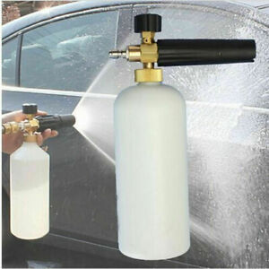 Pressure Washer Snow Foam Lance 1l Soap Spray Jet Bottle Car Wash Cannon Gun 1 4