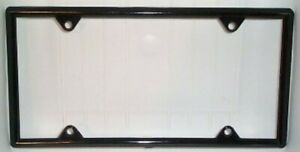 Black Vinyl License Plate Frame Kit 100 Pack Free Screw Caps With This Frame